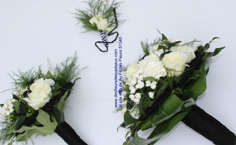 bouquet de mariée fleurs blanches et noires (8)