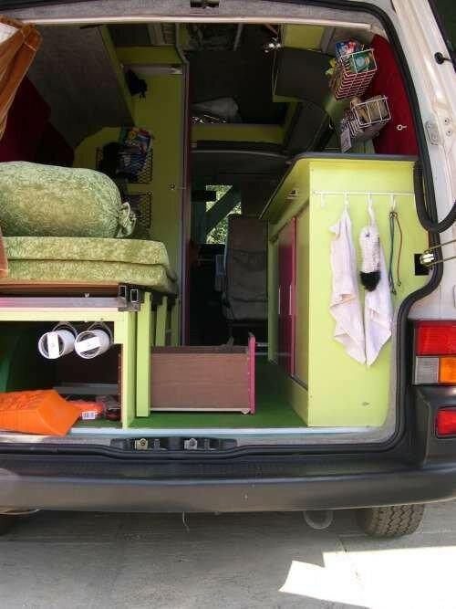 tiroirs à roulettes sous lit T4 Volkswagen