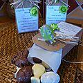 Petits chocolats pour pâques dans des marques places menu