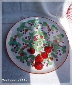 Plat aux fruits rouges