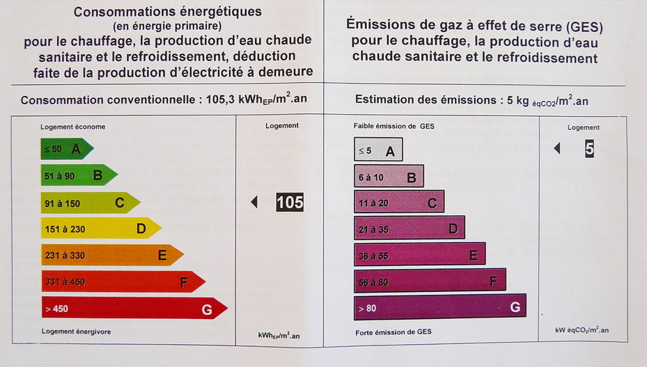 Diagnostic de performance nerg tique l 39 echo de nos for Classe energetique maison
