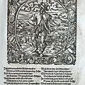 Illustration en xylographie formée d'un cadre omnibus et d'un médaillon ovale interchangeable différent à chaque page
