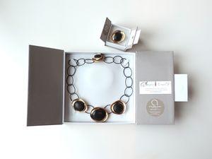 L'Ange_est_la_Bijoux_Collier_Galets_Bronze_Steel_acier_pebbles_Angela_Crispin