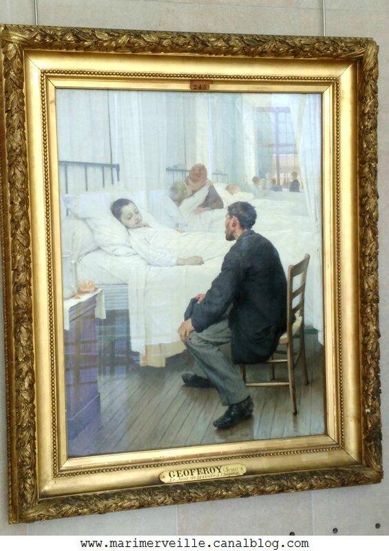 Henri Geoffroy Le jour de la visite à l'hôpital - Musee d'orsay - marimerveille