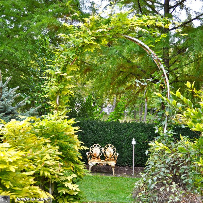 Petit banc à 2 places (arboretum des Prés des Culands)