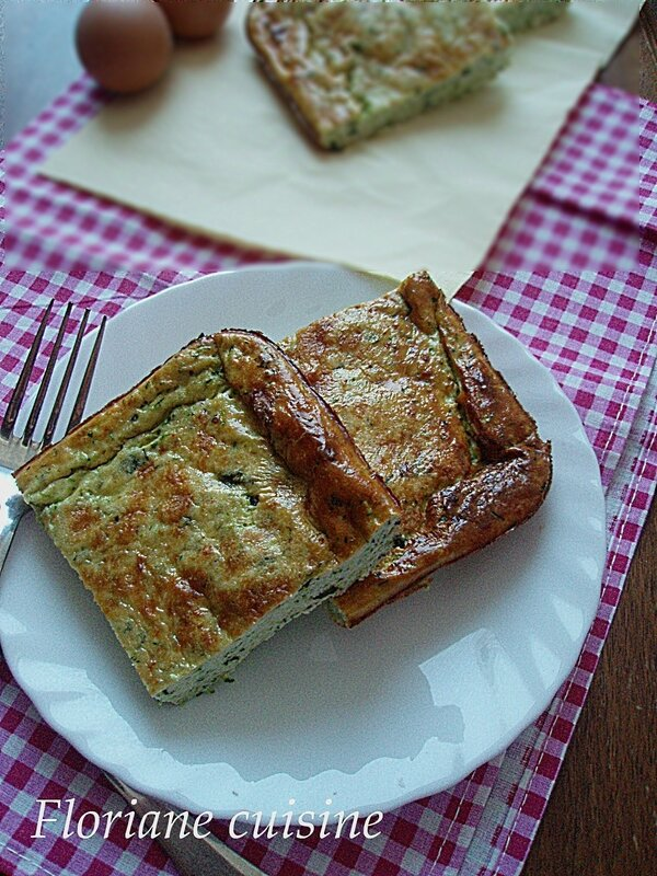 flan courgette menthe 1