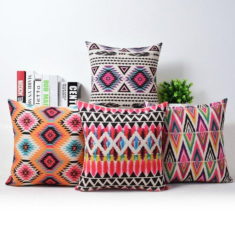 Bohemia-funda-de-almohada-fundas-de-almohada-geométrica-Bohemia-colorido-decorativo-del-hogar-moderno-asientos-sofá