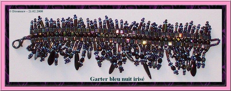 Garter bleu nuit