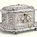 A german silver octagonal casket, johann balthasar sedletzky, augsburg, most probably 1669-1673