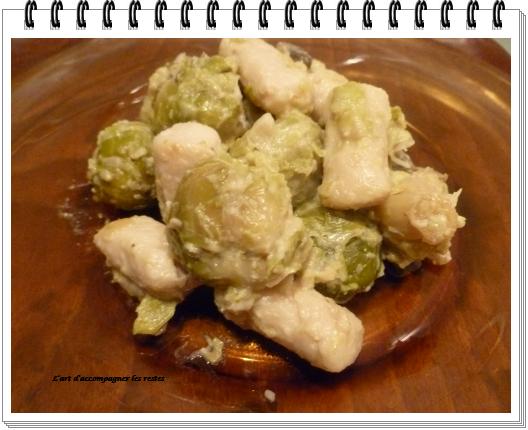 poellée choux de bruxelles - quenelle de volaille1