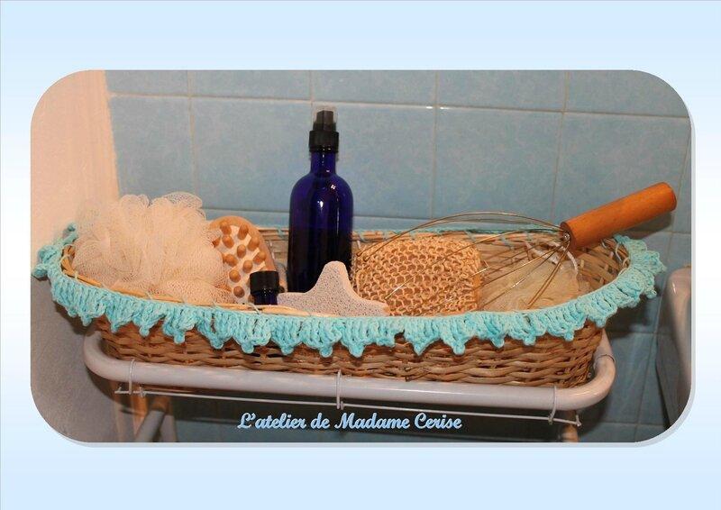 Serial crocheteuses n 261 un vide poche de salle de - Vide poche mural salle de bain ...