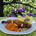 Cuisse de pintade aux abricots, amandes, lavande & miel ....o mon assiette de fille 