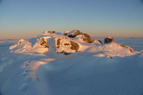 2008 12 24 Au sommet du Pic du Lizieux avant le coucher du soleil