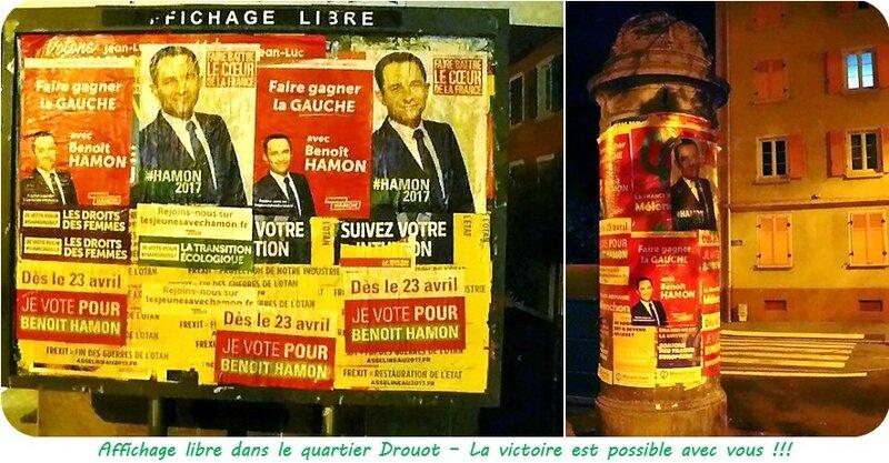 Quartier Drouot - Affichage libre Benoît Hamon