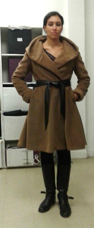 Manteau devant claire