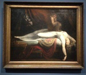 L'ange du Bizarre, le romantisme noir- Johann Heinrich Fussli, Le Cauchemar 1781