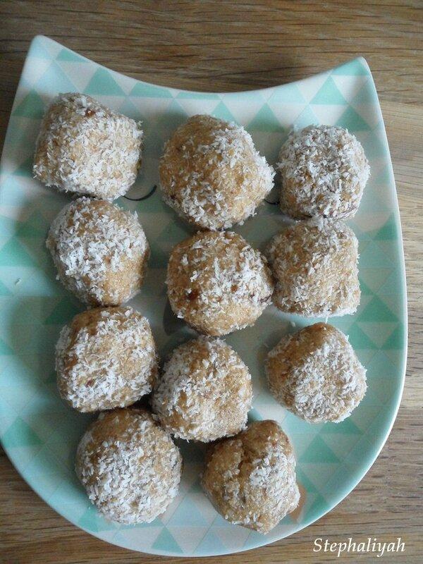 Bouchées noix de coco - 3