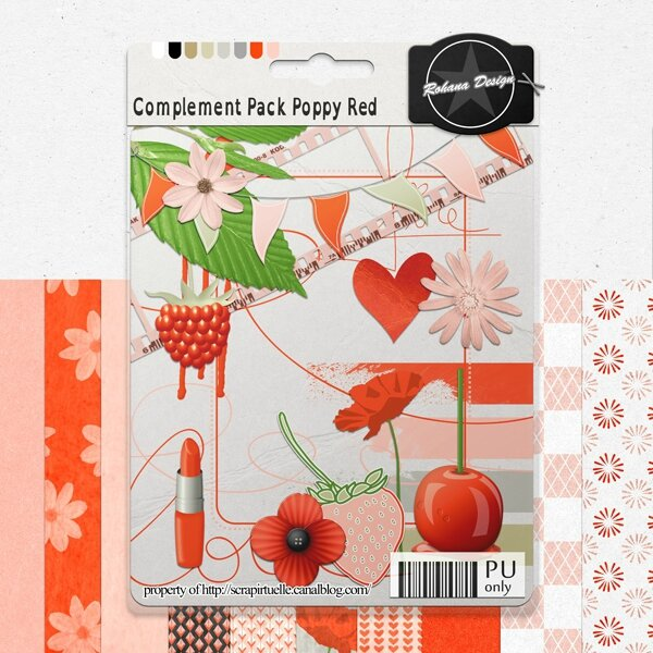 "Free ""Poppy Red"" from Rohana Designs - {PU}"