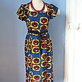 Boutique : robe rétro en wax