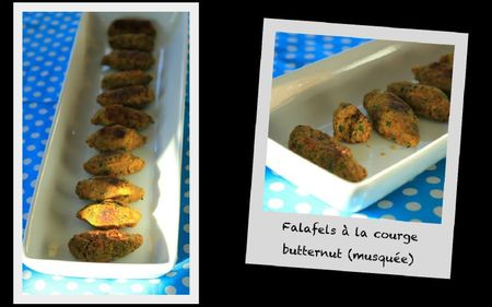 Falafels a la courge butternut (musquee)