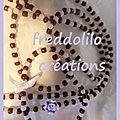 sautoir rocaille chocolat et blanc