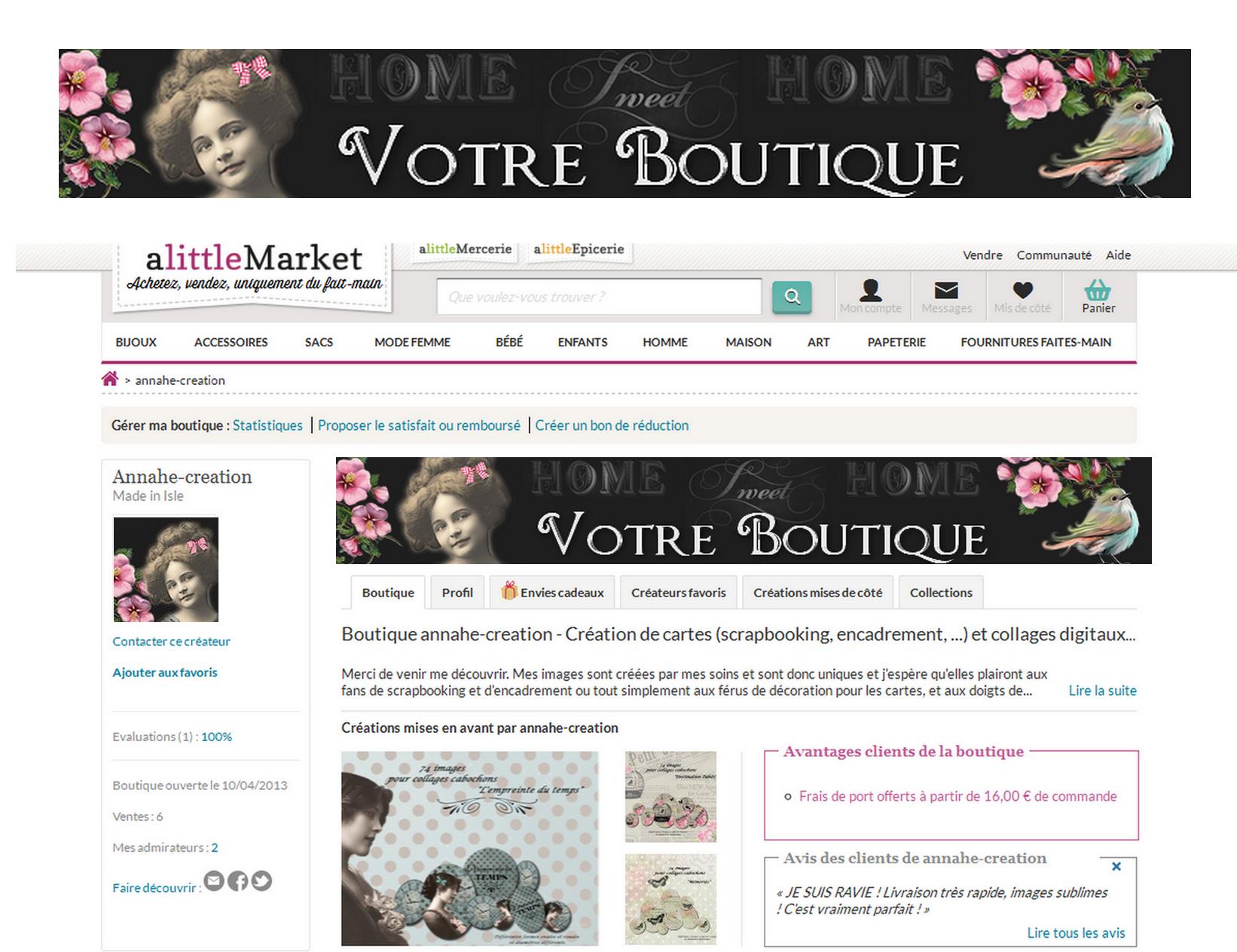 pr sentation banni re little market home sweet home. Black Bedroom Furniture Sets. Home Design Ideas