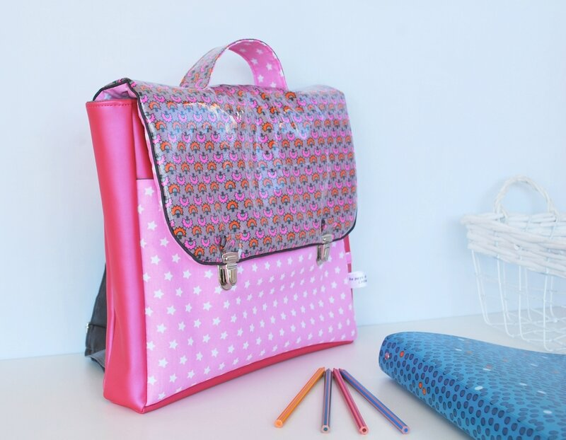 cartable fille rose