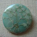 badge dentelle verte