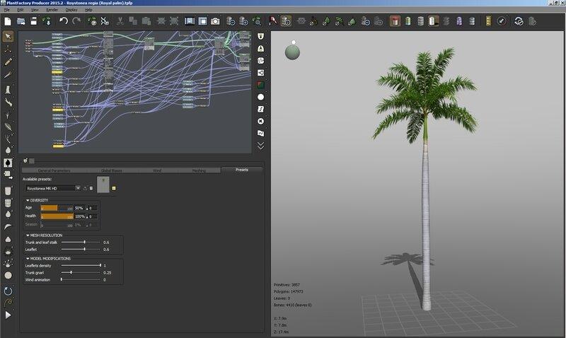 09 Roystonea regia screen royal 3D 3DS max c4d obj TPF The Plant Factory palm tree model