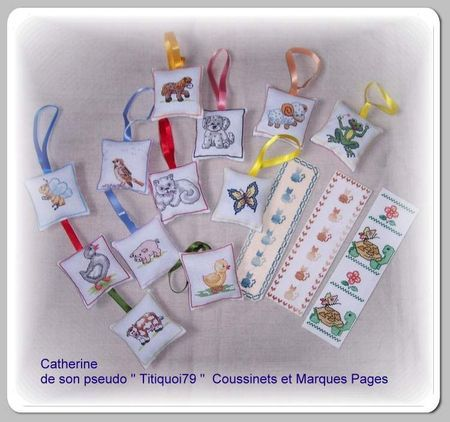 Marques pages et coussinet recto