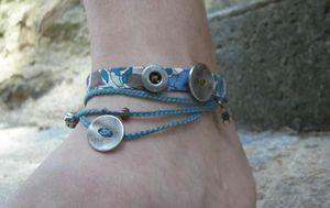 bracelet bleu 1