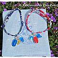 Bracelets médailles miraculeuses croix, médailles de la vierge Liberty