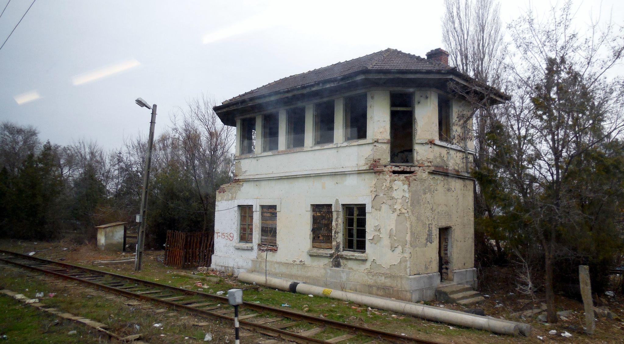 Cotesti (Roumanie) anicen poste d'aiguillage