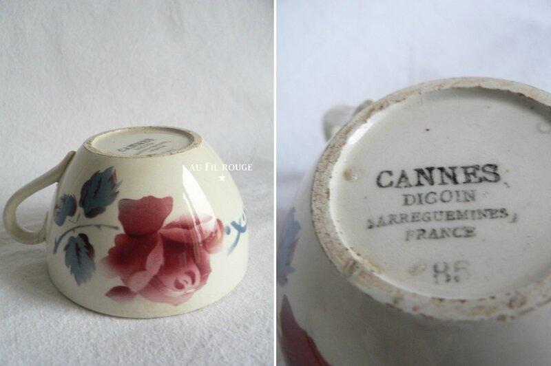 Tasse à thé Cannes 9 cm bol + etampille