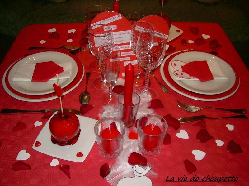 DECORATIONS DE TABLE SAINT-VALENTIN