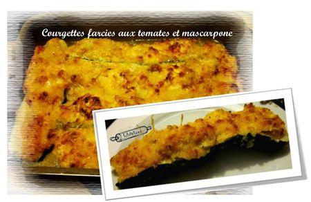 Courgettes farcies au mascarpone lili et ses ptits plats - Cuisiner avec du mascarpone ...