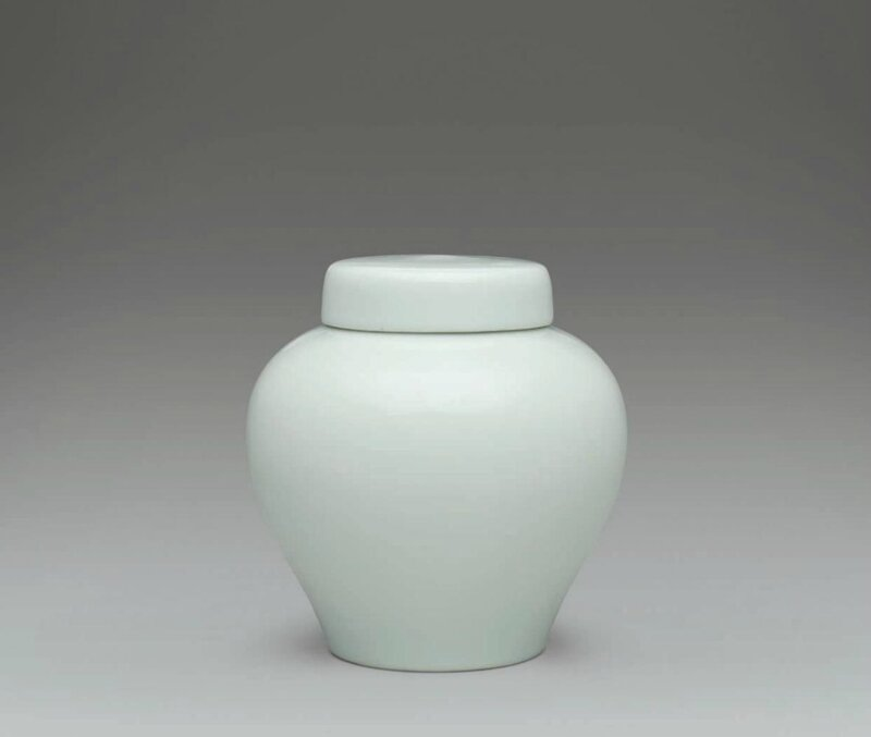 A rare small white-glazed jar and cover, Yongzheng six-character mark in underglaze blue within a double circle and of the period (1723-1735)