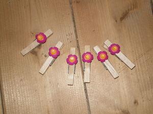 scrap_10_pinces_fleurs_rose_et_jaune_5cl_longueur
