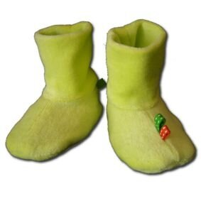 Chaussons verts face mini