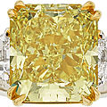 10 carat yellow diamond ring, estimated at $100,000+, leads jewelry sale @ heritage auctions