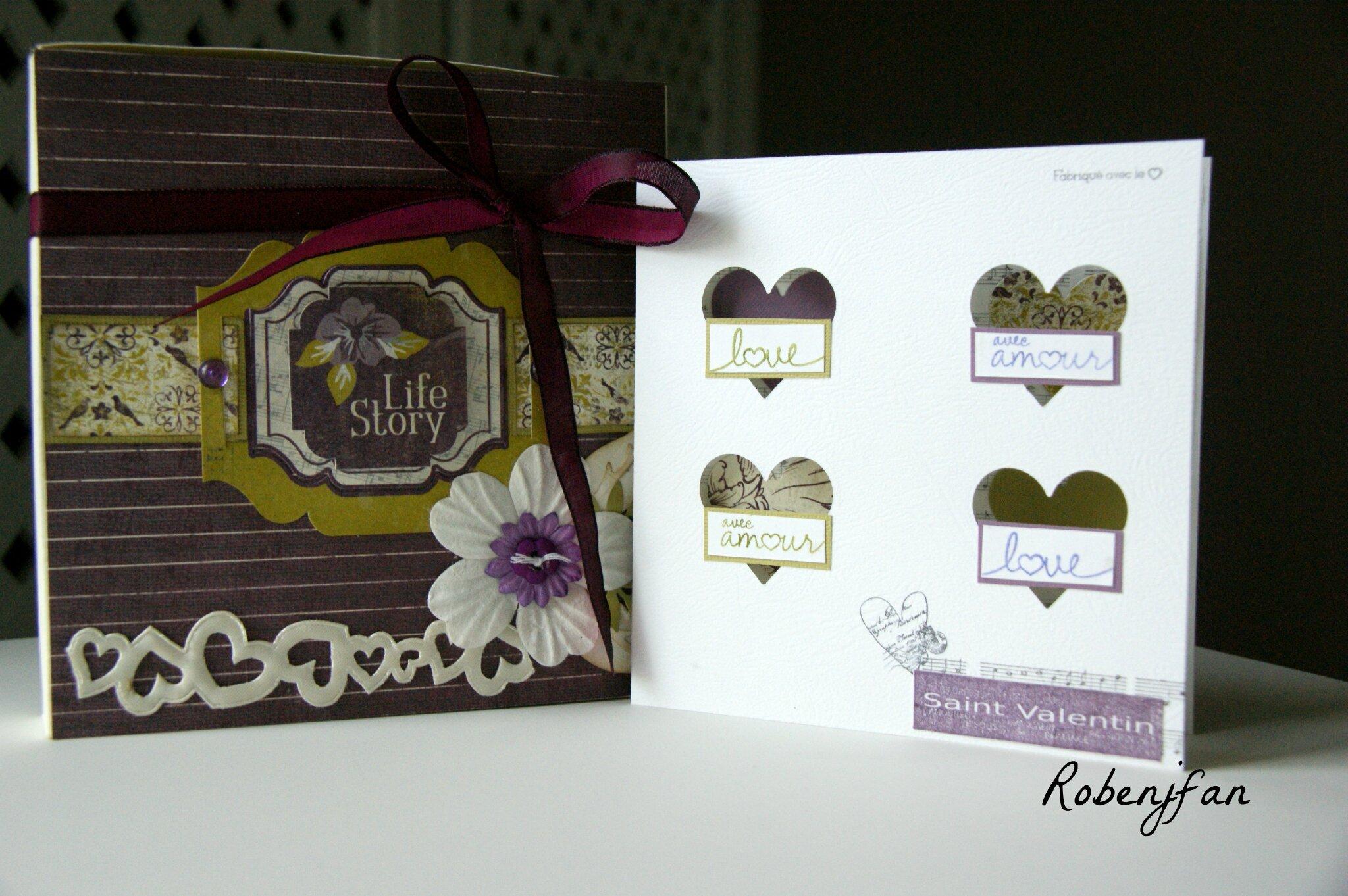 Mini Saint Valentin , cartes ....
