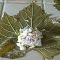 Cuisine des restes : feuilles de vigne et pommes de terre