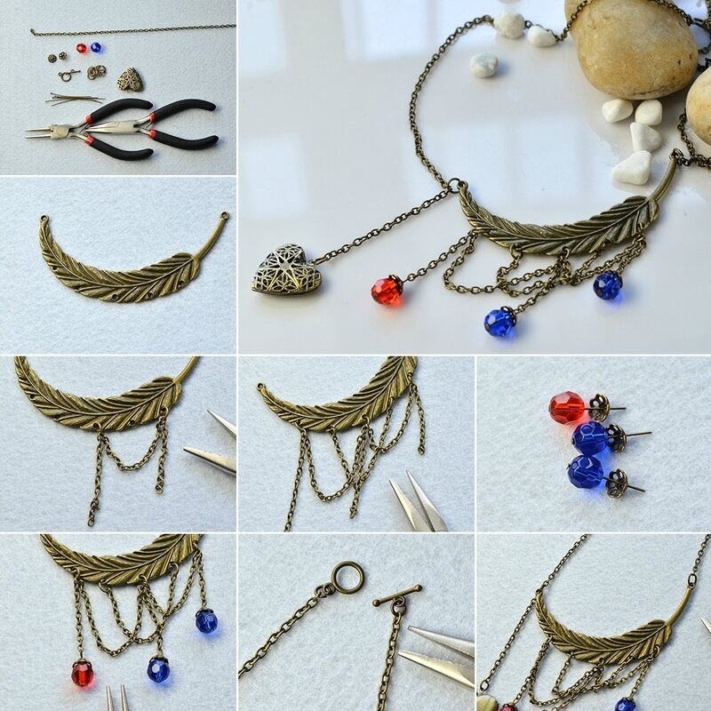1080-Pandahall-Original-DIY-Project-–-How-to-Make-a-Tibetan-Style-Beads-and-Chain-Necklace