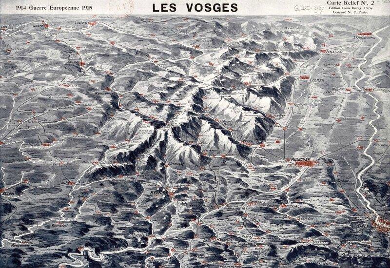 Vosges en relief