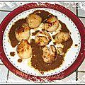 Noix de saint-jacques au vinaigre balsamique et à la crème