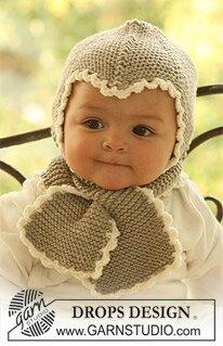 Atelier libre tricot  Bonnet et écharpe pour enfant modèle Drops Design