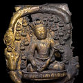 Plaque, Densatil Monastery, Tibet. 15th century