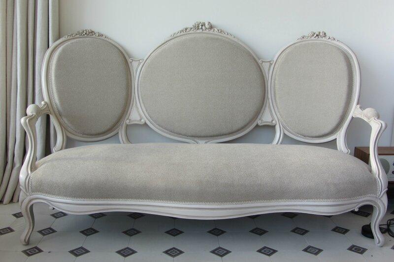 canapé Napoleon III atelier côté sièges