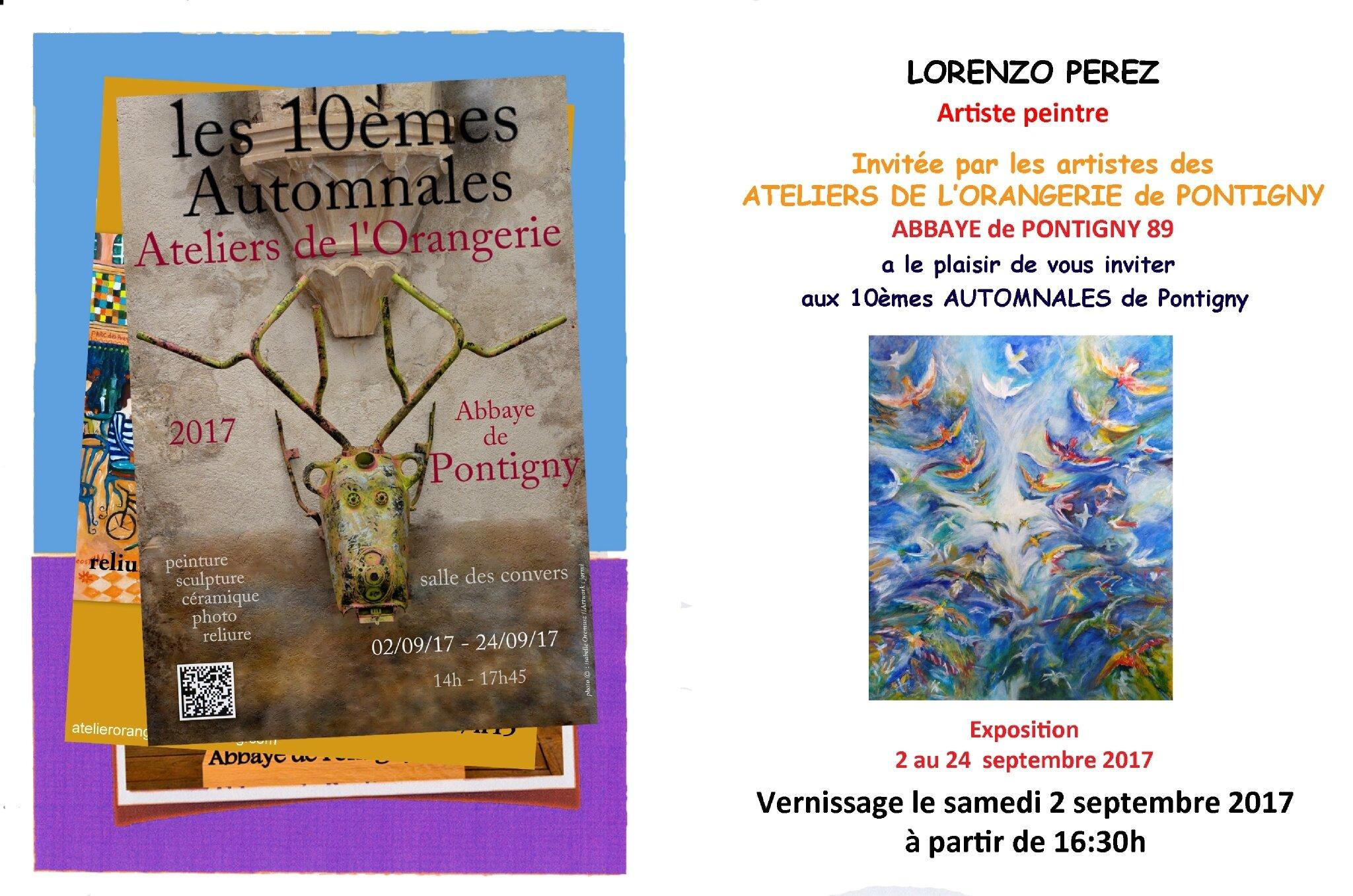 Exposition Xes Automnales des Ateliers de l'Orangerie - Pontigny