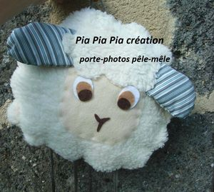 petit mouton pêle mêle porte photos by Pia Pia Pia